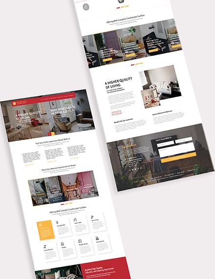 Sample Apartmental Rental Bootstrap Landing Page