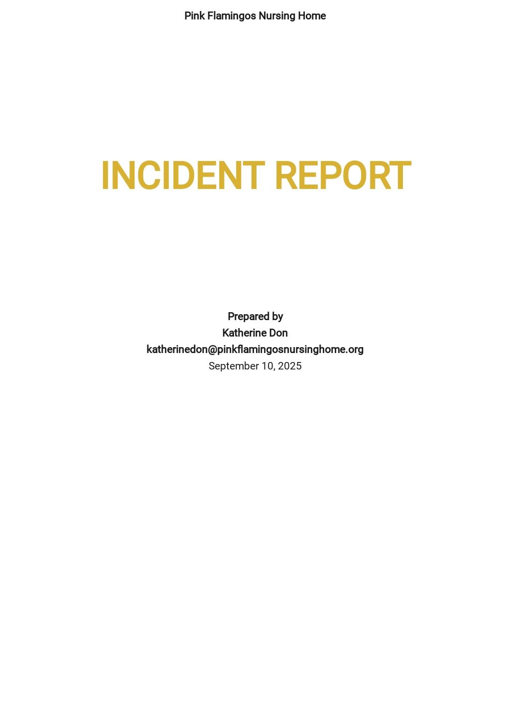 Free Sample Incident Report Template.jpe
