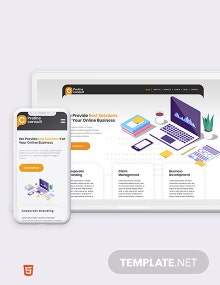 Business Consultant Bootstrap Landing Page Template