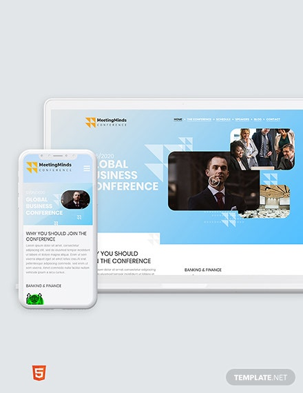 Conference Bootstrap Landing Page Template