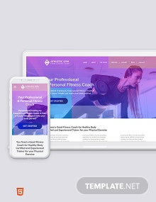 Fitness Trainer Coach Bootstrap Landing Page Template