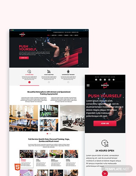 Gym Bootstrap Landing Page Template