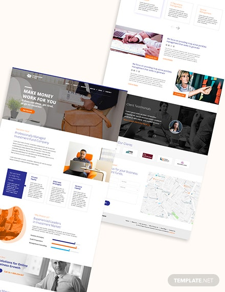 Invesement Fund Bootstrap Landing Page Download
