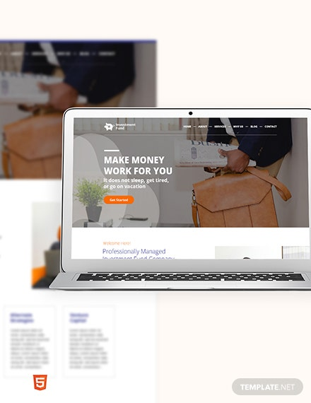 Investment Fund Bootstrap Landing Page Template
