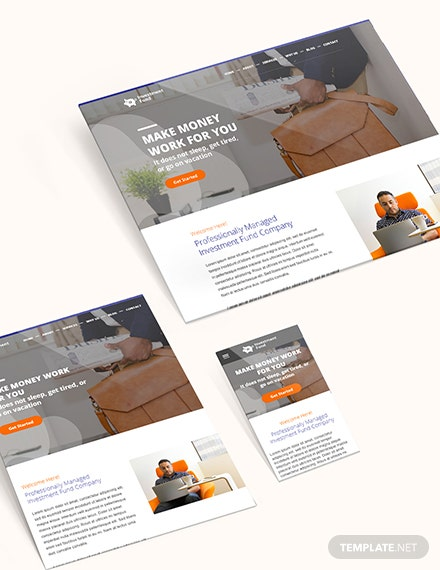 Sample Invesement Fund Bootstrap Landing Page