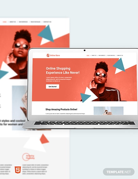 Online Store Bootstrap Landing Page Template