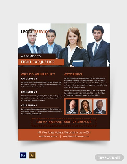 Free Legal Services Flyer Template