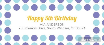 free birthday address label template in adobe photoshop illustrator
