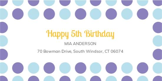 Birthday Address Label Template.jpe