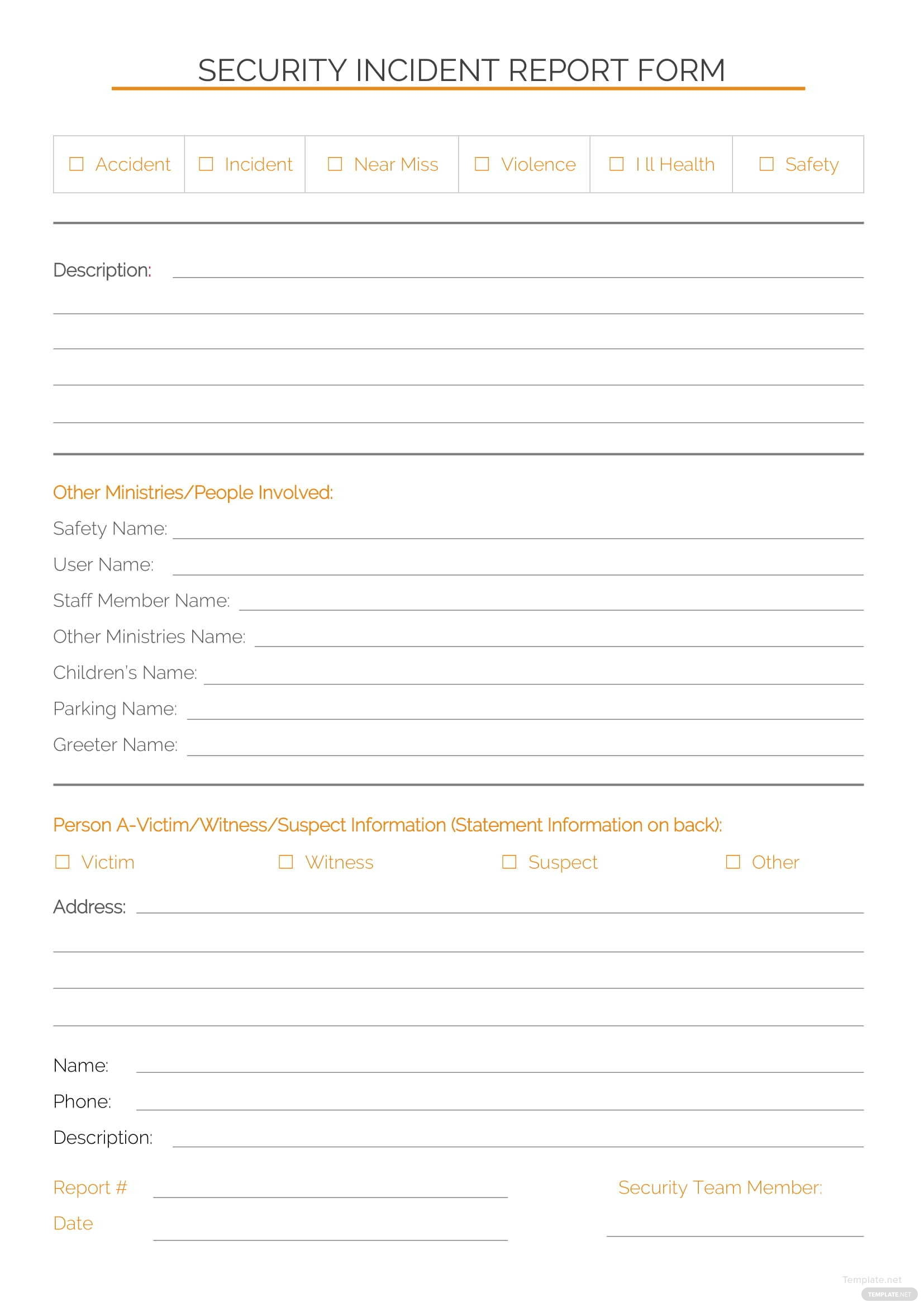 security-incident-report-template-1 Sample Business Expense Report Template on quicken income, yearly total, for reimbursement, healthcare revenue, business income, completed business,