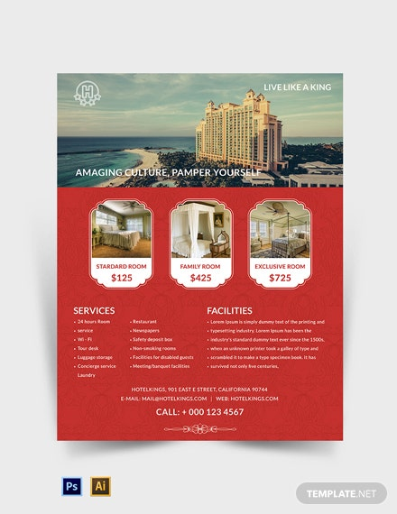 Free Hotel Flyer Template