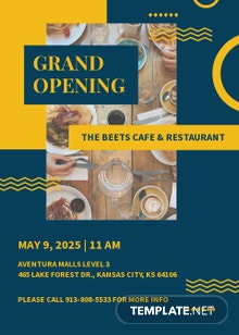 Cafe And Restaurant Grand Opening Invitation Template