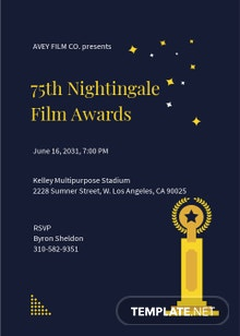 Modern Award Ceremony Invitation Template