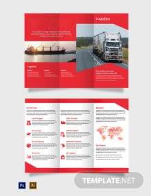 Free Logistics Services Tri-Fold Brochure Template