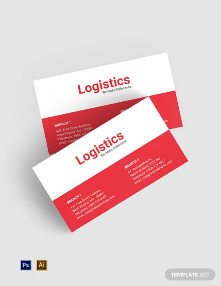 Free Logistics Services Business Card Template