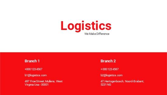 Logistics Services Business Card Template.jpe