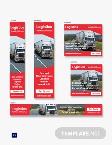 Free Logistics Services Banner Ads Template