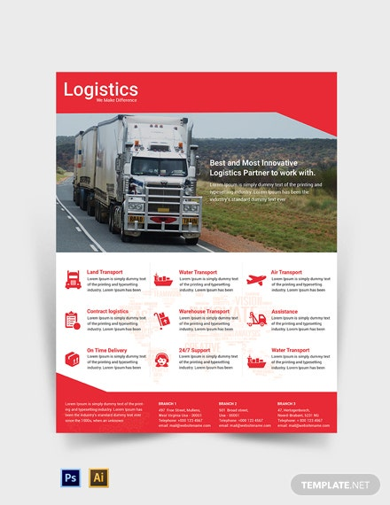 Free Logistics Services Flyer Template