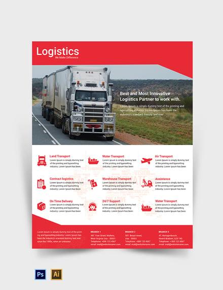 Logistics Services Flyer Template