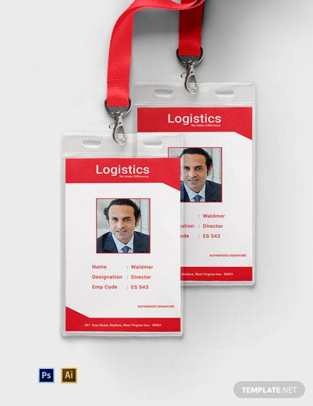 Free Logistics Services ID Card Template