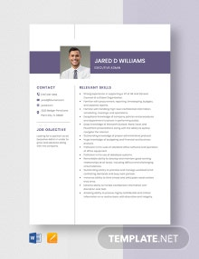 Executive Admin Resume Template