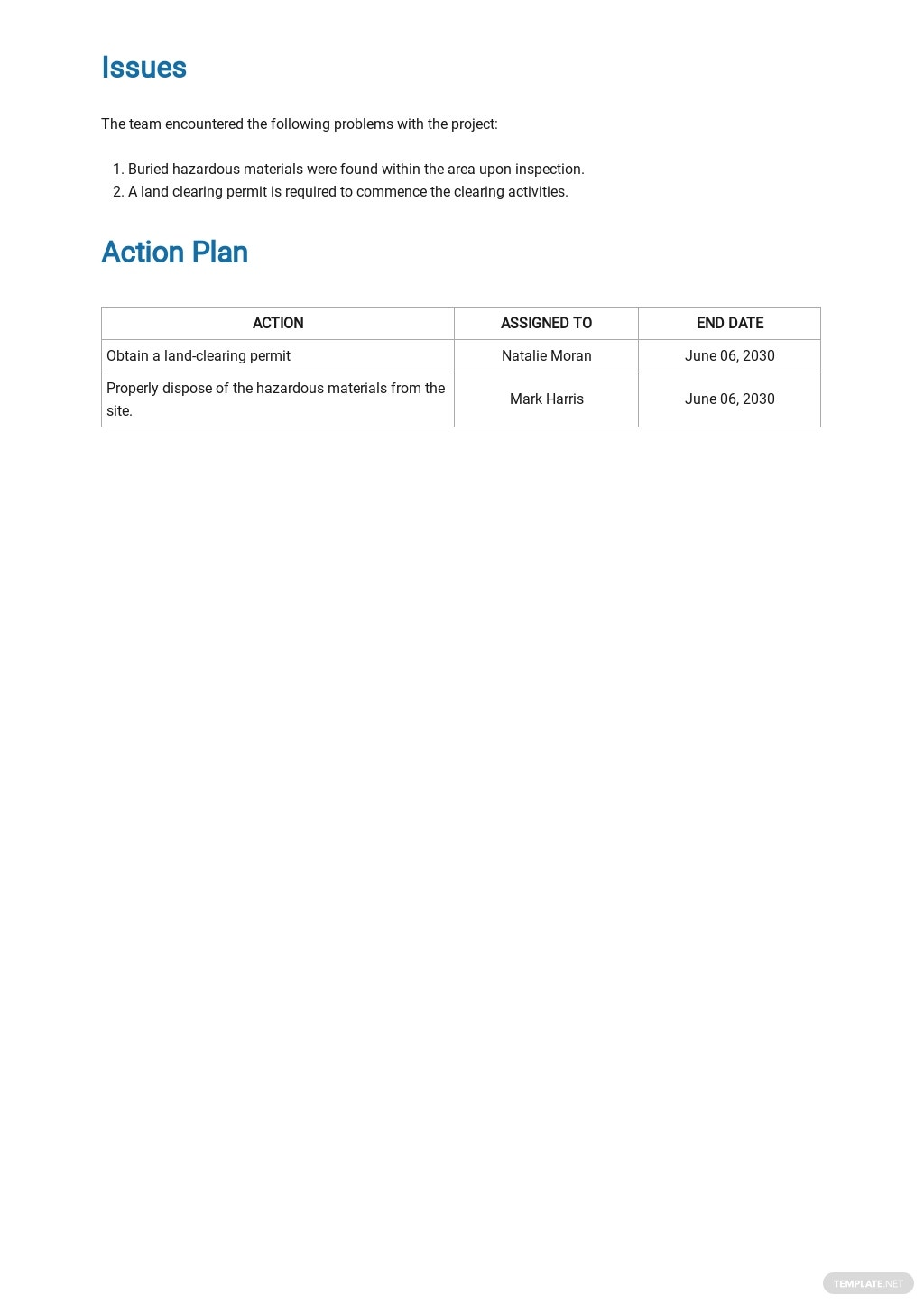 Free Daily Construction Report Sample Template 3.jpe