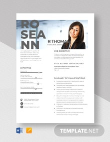 Executive Associate Resume Template