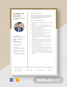 Executive Meeting Manager Resume Template