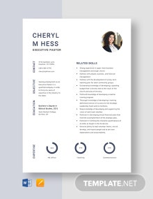 Executive Pastor Resume Template