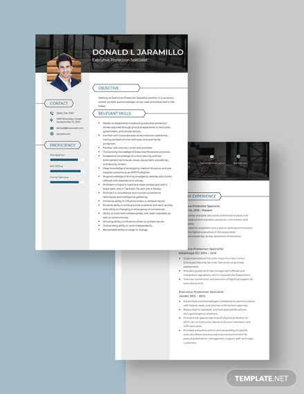 Executive Protection Specialist Resume download