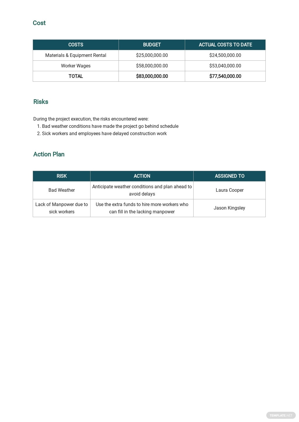 Free Daily Progress Report for Building Construction Template 2.jpe