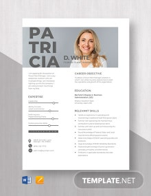 Power Plant Manager Resume Template