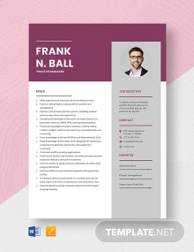Practice Manager Resume Template