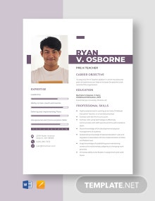 Pre-K Teacher Resume Template