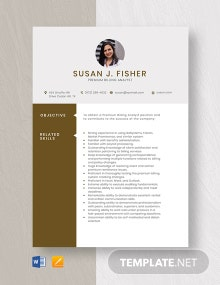 Premium Billing Analyst Resume Template