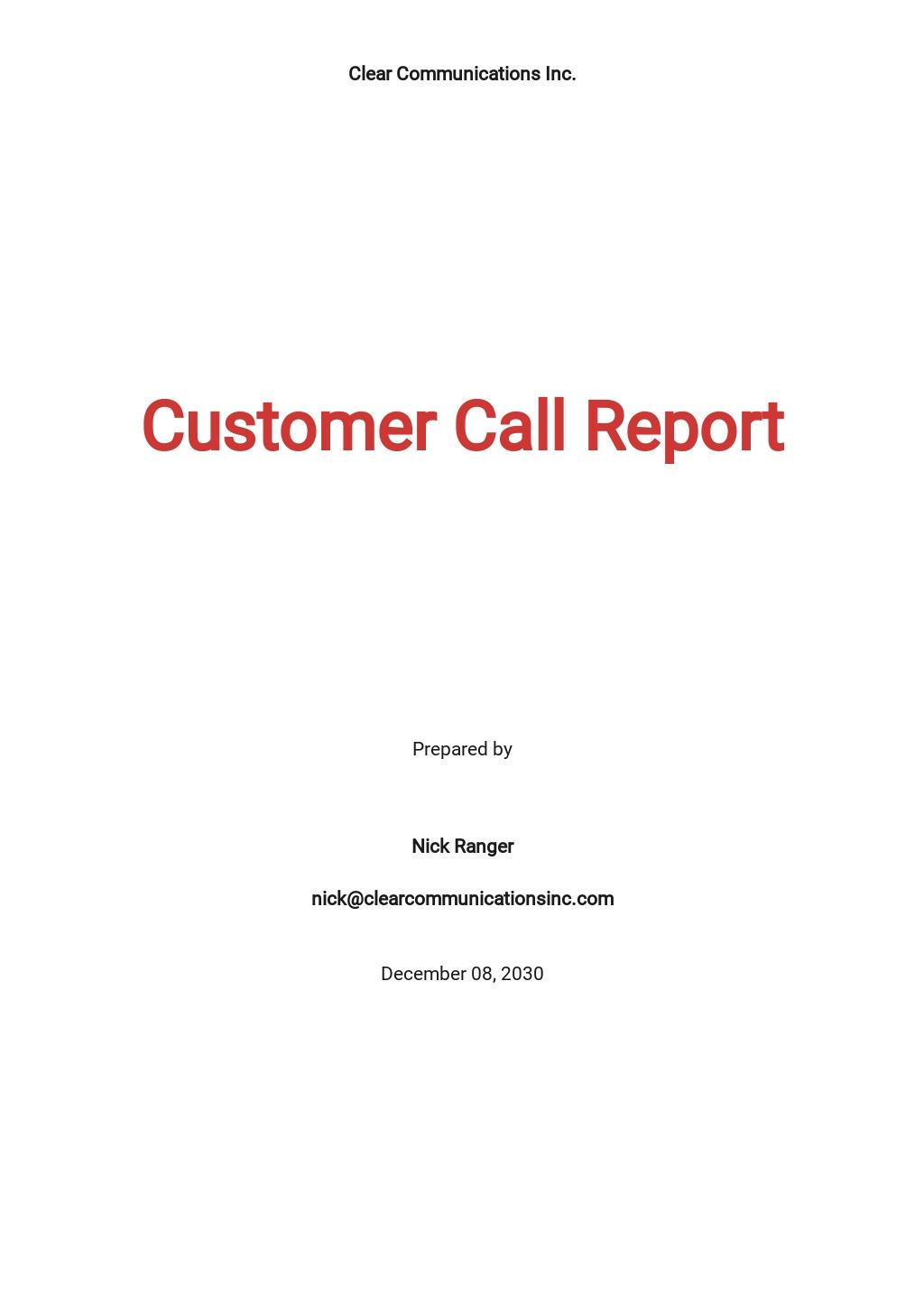 Free Customer Call Report Template.jpe
