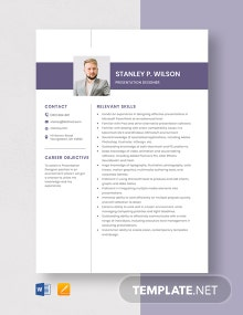 Presentation Designer Resume Template