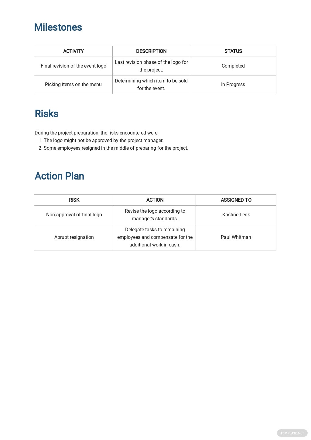 Free Daily Activity Report Template 2.jpe