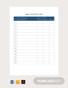 Free Daily Activity Report Template