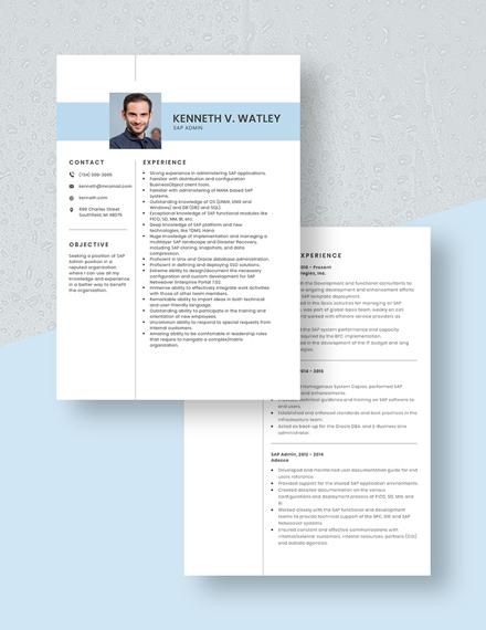 SAP Admin Resume Download
