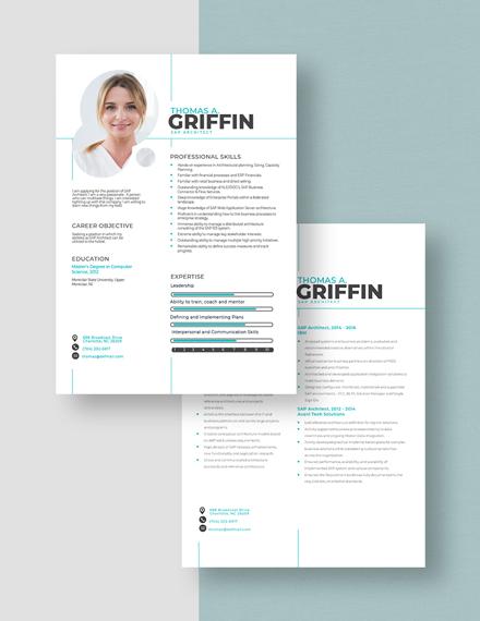 SAP Architect Resume Download