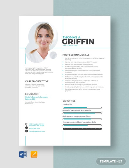 SAP Architect Resume Template