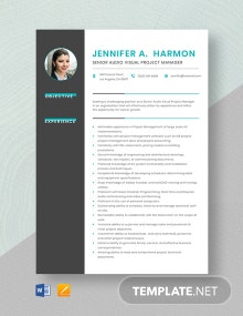 Senior Audio Visual Project Manager Resume Template