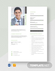 SEO Writer Resume Template