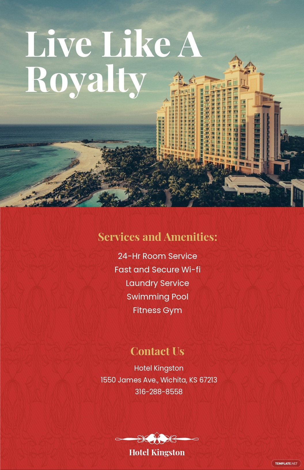Free Hotel Poster Template.jpe