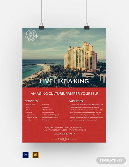 Free Hotel Poster Template