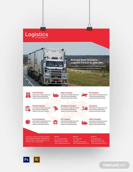Free Logistics Services Poster Template