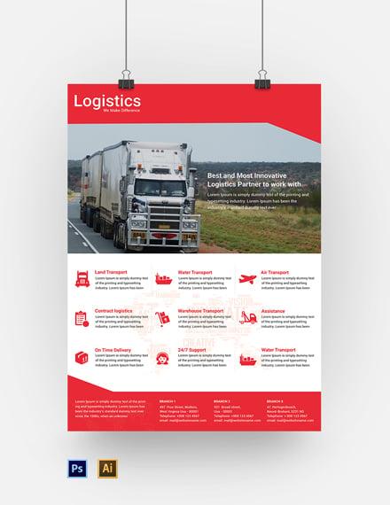 Free Logistics Services Poster