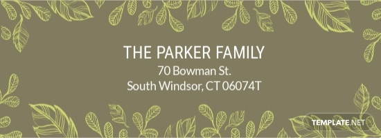 Family Address Label Template.jpe