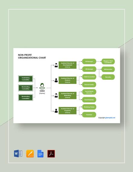 Free Non-Profit Organizational Chart Template